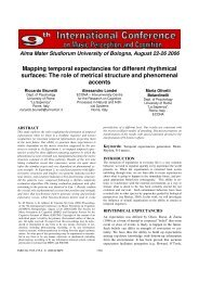 The role of metrical structure and phenomenal ... - Prof. Marco Costa