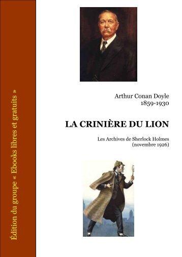 La crinière du lion - Recueil Les archives de Sherlock Holmes