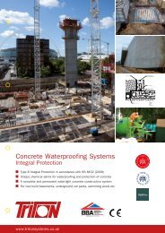 Concrete Waterproofing Systems - BD Online Product Search