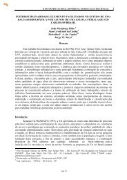 Interdisciplinaridade: Elemento Facilitador no Estudo de uma Bacia