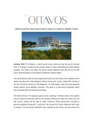 Brand new five star luxury hotel to open on Lisbon's ... - The Oitavos