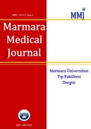 Marmara Medical Dergi Marmara Medical Journal