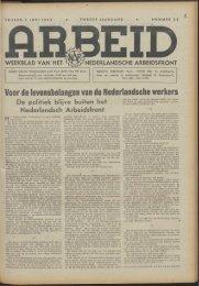 Arbeid (1942) nr. 23 - Vakbeweging in de oorlog