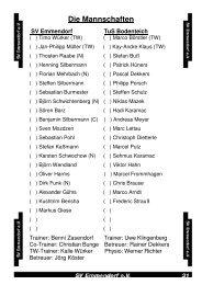 Die Mannschaften - SV Emmendorf