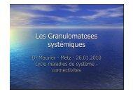 Les Granulomatoses systémiques.key - ammppu