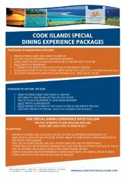 cook islands special dining experience packages - Island Hopper ...