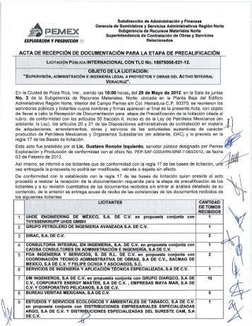 Subdirección de Administración y Finanzas Gerencia de ...