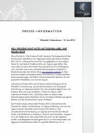 NEU: Prodene Klint Hotel mit eigenem Label und neuem Shop