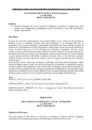 CORSO DI LAUREA IN SFP MAGISTRALE QUINQUENNALE A ...