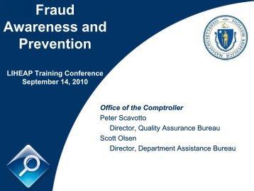 Fraud Awareness and Prevention - Mass.Gov