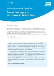 Some first reports on using the NHS Friends and Family Test in ...