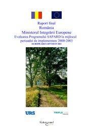 Evaluarea Programului SAPARD la mijlocul perioadei de ... - MADR