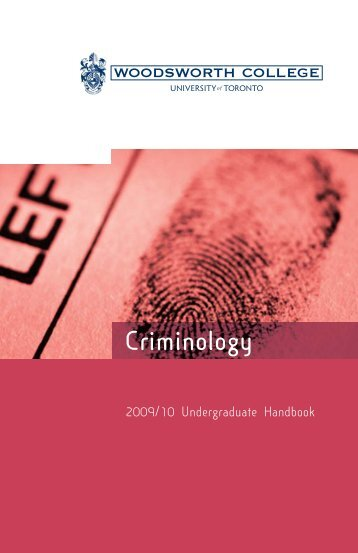 Criminology - Woodsworth College - University of Toronto