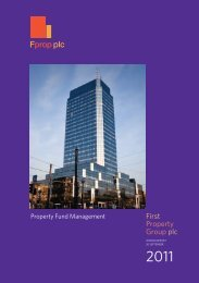 September 2011 Interim Report - First Property Group plc