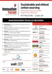 Sustainable and Ethical Cotton Sourcing Forum - Conference Brochure