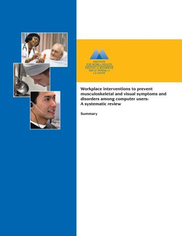 Workplace interventions to prevent MSK and visual symptoms and ...