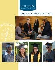 PRESIDENT'S REPORT 2009-2010 - Dutchess Community College
