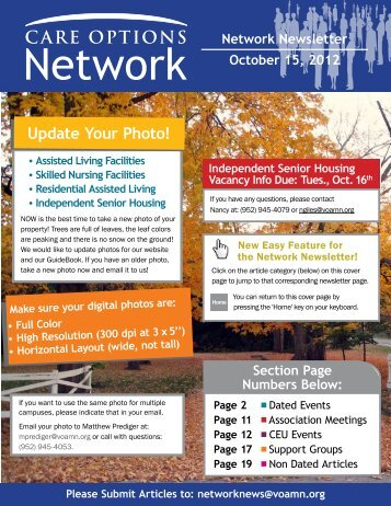 Update Your Photo! - Care Options Network