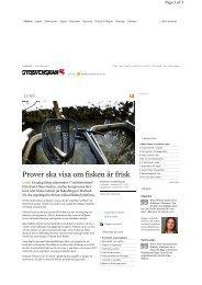 Artikel i Sydsvenskan 2011-11-01 - Höje å vattenråd