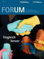 gesamte Ausgabe FORUM (01-2011) - Universität Mannheim