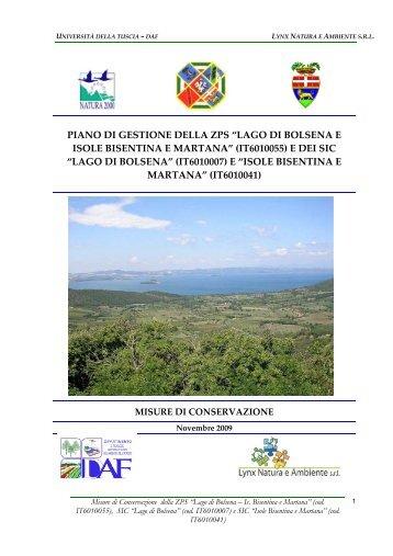 Misure di conservazione - Provincia di Viterbo
