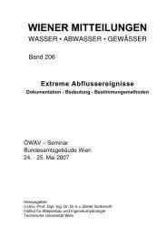 wiener mitteilungen - Institut für Wasserbau und Ingenieurhydrologie ...