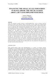 financing the small scale industries in bangladesh - Asbbs.org