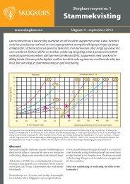 Nr 1. Stammekvisting (pdf) - Skogbrukets kursinstitutt