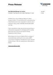 Press Release - Bosch Thermotechnik GmbH
