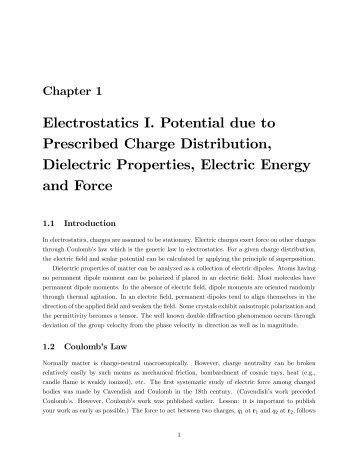 Physics Electrostatics Worksheet Solutions - Academic Program ...