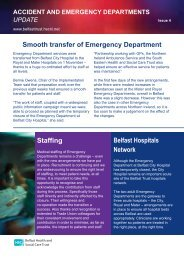 bulletin in our series of A&E updates - Belfast Health and Social ...