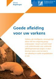 Brochure 'Goede afleiding voor uw varkens' - DGB energie