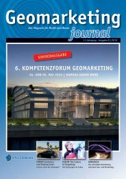 6. KOMPETENZFORUM GEOMARKETING - infas GEOdaten