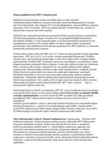 Human papillomavirus (HPV) çalışma grubu - Türk Mikrobiyoloji ...
