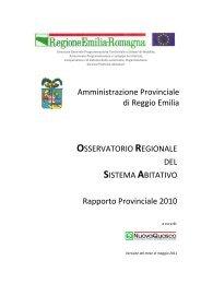 2010 ORSA Rapporto Provinciale RE def.pdf - Provincia di Reggio ...