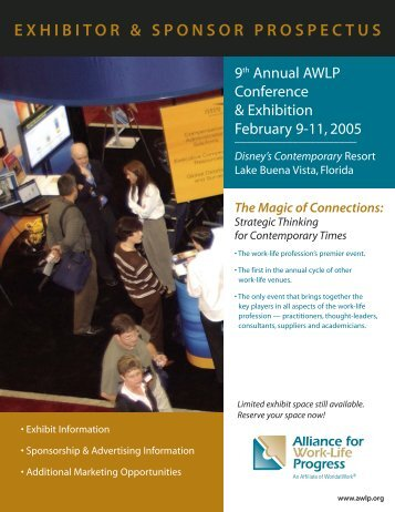 exhibitor & sponsor prospectus - Alliance for Work-Life Progress