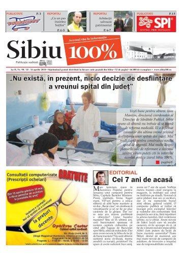 """Cei 7 ani de acasă """"Nu există, în prezent, nicio decizie ... - Sibiu 100"""