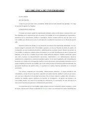 ley orgánica de universidades - Colegio de Doctores y Licenciados