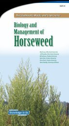 Biology and Management of Horseweed - Weed Science at the ...