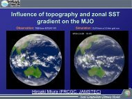 Influence of Topography and Zonal SST Gradient on the MJO - cmmap