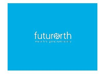 Future Earth Implementation - wcrp strategic framework 2005-2015