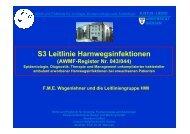 S3 Leitlinie Harnwegsinfektionen - Paul Ehrlich Gesellschaft
