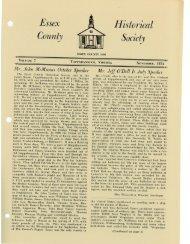Bulletin Vol 7 - Essex County Museum