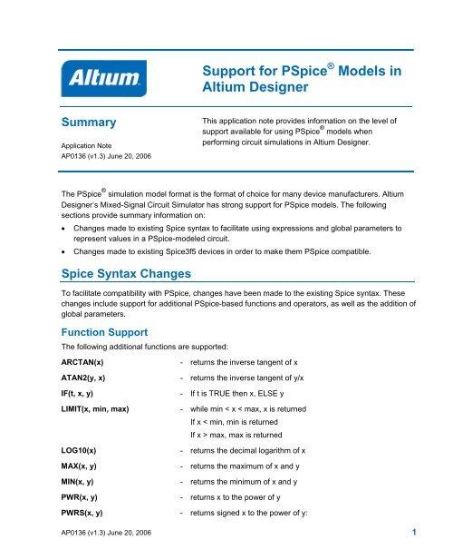 Altium Support