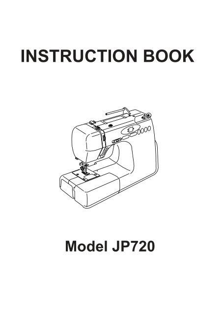 INSTRUCTION BOOK - Janome