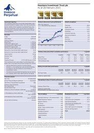 Keystone Investment Trust plc Factsheet - Invesco Perpetual