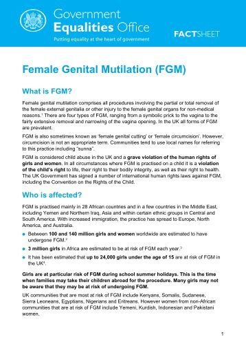 Female genital mutilation: an overview