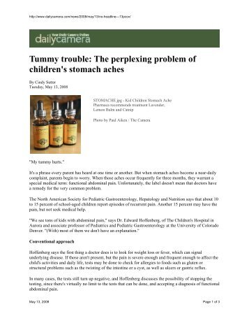 Tummy trouble: The perplexing problem of ... - Physic Ventures