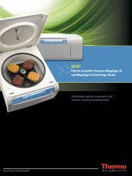 Thermo Scientific Heraeus Megafuge 16 and Megafuge 40 ...