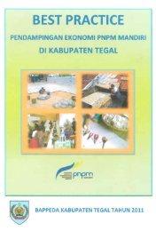 Buku Best Practice Pendampingan Ekonomi PNPM Mandiri di - P2KP